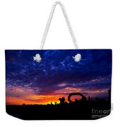 Sculpture By The Sea - Sunset Silhouette By Kaye Menner Weekender Tote Bag