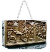 Sculpture Torture At Hoa Lo Prison Hanoi Weekender Tote Bag