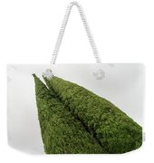 Sculpturesque Greenery - Three Cypress Trees Chiseled Against The Sky Weekender Tote Bag