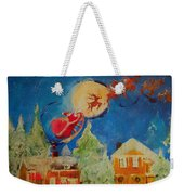 Sea Blue Christmas  Weekender Tote Bag