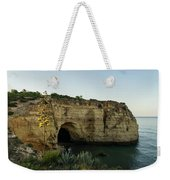 Sea Cave And Agave Bloom Spike - The Magic Of Algarve Portugal Weekender Tote Bag