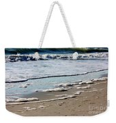 Sea Foam At The Shore Weekender Tote Bag