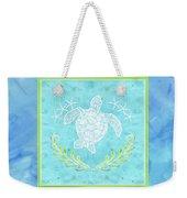 Flamingo Beach 1 - Turtle With Starfish  Weekender Tote Bag