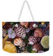 Sea Glass With Sea Shells Weekender Tote Bag