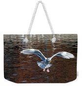 Sea Gull Landing Weekender Tote Bag