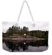 Sea Mark On An Islet At Lake Saimaa Weekender Tote Bag
