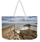 Sea Meets Rocks At Howick Weekender Tote Bag
