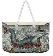 Sea Monster, 16th Century Weekender Tote Bag