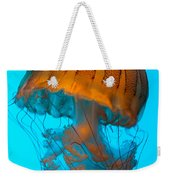 Sea Nettle Jellyfish - Orange And Turquoise Weekender Tote Bag
