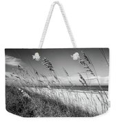 Sea Oats In Black And White Weekender Tote Bag