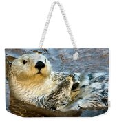 Sea Otter Portrait Weekender Tote Bag