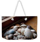 Sea Shells And Stones On Windowsill Weekender Tote Bag