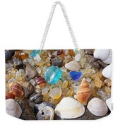 Sea Shells Art Prints Blue Seaglass Sea Glass Coastal Weekender Tote Bag