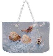 Sea Shells In An Ocean Wave Weekender Tote Bag