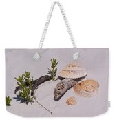 Sea Shells With Drift Wood And Small Plants Weekender Tote Bag