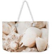 Sea Snails And Molluscs Empty Shells Sepia Toned  Weekender Tote Bag