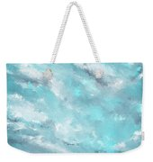 Sea Spirit - Teal And Gray Art Weekender Tote Bag