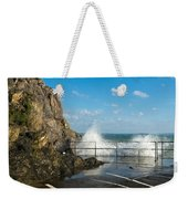 Sea Spray At Mevagissey Harbour Weekender Tote Bag