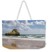 Sea Stack Sculpted Like A Ship Riding The Waves Weekender Tote Bag