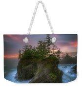 Sea Stack With Trees Of Oregon Coast Weekender Tote Bag