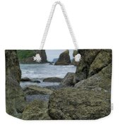Sea Stacks And Boulders Washington State Weekender Tote Bag