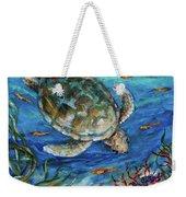 Sea Turtle Dive Weekender Tote Bag