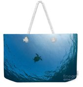 Sea Turtle Silhouette Weekender Tote Bag