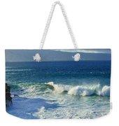Sea Wave Surf Clouds Coast 46713 300x532 Weekender Tote Bag