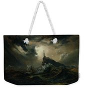 sea with Lighthouse Weekender Tote Bag