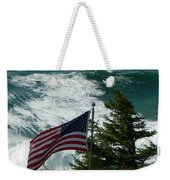 Seagull And Flag Weekender Tote Bag