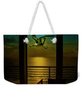 Seagull And Sunset Clouds Weekender Tote Bag by Fernando Cruz