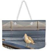 Seagull At Ravenel Bridge Weekender Tote Bag