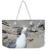 Seagull Bird Art Prints Coastal Beach Driftwood Weekender Tote Bag