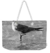 Seagull Black And White Weekender Tote Bag