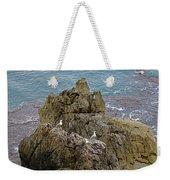 Seagull Island On Cefalu In Sicily  Weekender Tote Bag