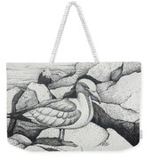 Seagull On Rocks Weekender Tote Bag