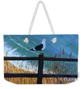 Seagull On The Fence Weekender Tote Bag