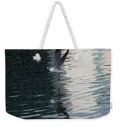 Seagull Reflection Over Blue Bay Weekender Tote Bag
