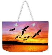Seagull Sunset   Weekender Tote Bag