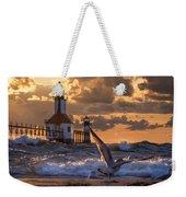 Seagull Takeoff - Tiscornia Beach  Weekender Tote Bag