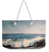 Seagull With Wave  Weekender Tote Bag