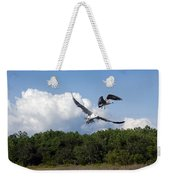 Seagulls Over Marsh Weekender Tote Bag