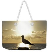 Seagull's Sunrise Silhouette Weekender Tote Bag