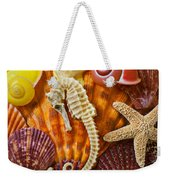 Seahorse And Assorted Sea Shells Weekender Tote Bag