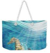 Seahorse Blues Weekender Tote Bag