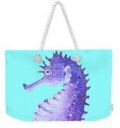 Seahorse Painting On Blue Background Weekender Tote Bag