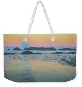Seal Rock Moonset Weekender Tote Bag