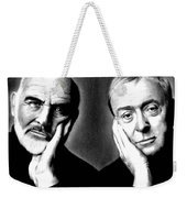 Sean Connery And Michael Caine Weekender Tote Bag