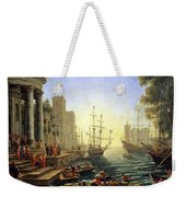 Seaport With The Embarkation Of Saint Ursula  Weekender Tote Bag