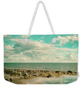 Seascape Cloudscape Retro Effect Weekender Tote Bag